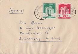 Bizone Brief Mif Minr.101, 102 Bochum 28.12.49 Gel. In Schweiz Geöffnet Devisenüberwachung - Bizone
