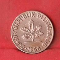 GERMANY FEDERAL REPUBLIC 2 PFENNIG 1968-F -    KM# 106a - (Nº28104) - [ 7] 1949-… : FRG - Fed. Rep. Germany
