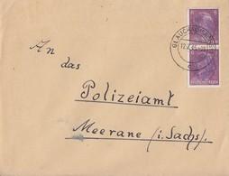 SBZ Brief Schwärzung Mef Minr.AP 785 Glauchau 12.7.45 Gel. Nach Meerane - Zone Soviétique