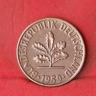 GERMANY FEDERAL REPUBLIC 2 PFENNIG 1959-D -    KM# 106 - (Nº28107) - [ 7] 1949-…: BRD