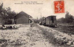 S1240 Cpa 19 Beaulieu - La Gare Du Tramway - Autres Communes