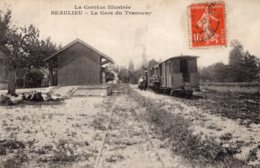 S1240 Cpa 19 Beaulieu - La Gare Du Tramway - Other Municipalities