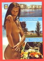 83 Var Souvenir De TOULON Femme Nue  Carte Vierge TBE - Pin-Ups