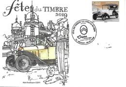 1er Jour FRANCE Fête Du Timbre SOLOGNY 71   2019 - 2010-....