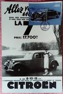 Journée Du Timbre, FDC, BLOC 1.76€, OLONNE Sur Mer, Carte Postale Publicitaire Grand Format, 20 X 30 , - Voitures