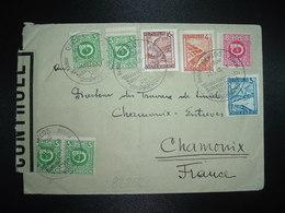 LETTRE Pour La FRANCE TP 16g + TP 4g + TP 3g + TP 5 X2 + Paire + TP 8 OBL.23-5 46 GERLOS + CENSURE - 1945-60 Briefe U. Dokumente