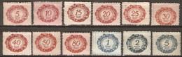 Liechtenstein Tasas 1/12 (*) Sin Goma. 1920 - Aéreo