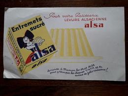 L18/77 Buvard. Levure Alsacienne Alsa - Food