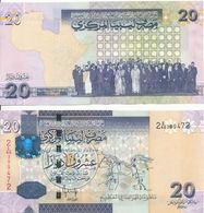 Libya - 20 Dinars 2009 AUNC Pick 74 Serie 2 Lemberg-Zp - Libye