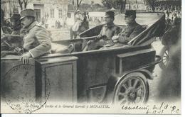 """CPA FRONT D'ORIENT CACHET MILITAIRE """"Le Prince De Serbie Et Le Général Sarrail à Monastir"""" - Grecia"""