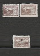 Chine Orientale Lot De 3 Timbres 1949 Mi E 31 A Mi E 4 II Commemoration - Neuf Sans Gomme Dont 1 Dentelé Sur Trois Cotés - Cina Orientale 1949-50