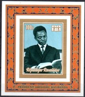 Rwanda Ruanda 1973 OCBn° Bloc 28 ND Ongetand *** MNH Cote 15,00 Euro Président Kayibanda - Rwanda