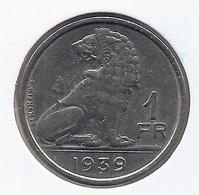 LEOPOLD III * 1 Frank 1939 Frans/vlaams * Nr 7661 - 1934-1945: Leopold III