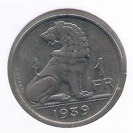 LEOPOLD III * 1 Frank 1939 Frans/vlaams * Nr 7662 - 1934-1945: Leopold III