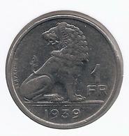LEOPOLD III * 1 Frank 1939 Frans/vlaams * Nr 7663 - 1934-1945: Leopold III