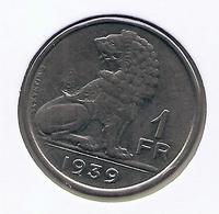 LEOPOLD III * 1 Frank 1939 Vlaams/frans * Nr 7664 - 1934-1945: Leopold III