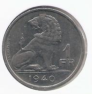 LEOPOLD III * 1 Frank 1940 Vlaams/frans * Nr 7671 - 1934-1945: Leopold III