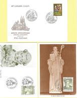 Luxemburg 1981/88: Brief + 2x Karte St. Benoit + Cercle Philatelique Clervaux #Z - FDC