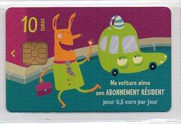 Parking Card Paris 10€ - PARKING PERMIT - Autres