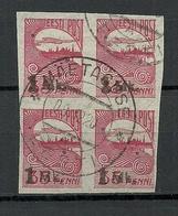 Estland Estonia 1919 O MÄETAGUSE Michel 19 Als 4-Block - Estland