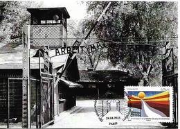 FRANCE 2015 Liberation Des Camps De Concentration, Maximum Card UNUSED - Cartoline Maximum