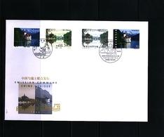 Schweiz / Switzerland + China 1998 Joint Issue Lakes FDC - Gemeinschaftsausgaben