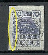 Estland Estonia 1919 Michel 11 + ERROR Abart Plattenfehler O - Estland