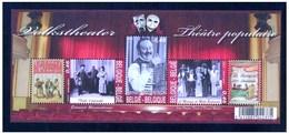 Blok 141** Met Zegels 3626/28**  Volkstheater - BF 141 Théâtre Populaire - Bloc 141 MNH - Belgie - Blocks & Sheetlets 1962-....
