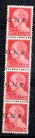 RSI177 - GNR 1944 ,  20 Centesimi Soprastampato : Striscia Di Quattro **  MNH - 4. 1944-45 Social Republic