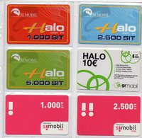 Simobil Prepaid Phonecard - LOT OF 6 PHONECARDS - Slovénie