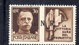 RSI182 - GNR 1944 ,  Propaganda Di Guerra 30 Centesimi Soprastampato  **  MNH - 4. 1944-45 Repubblica Sociale