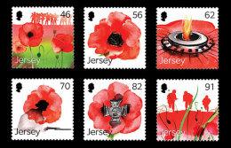 Jersey 1888/93 Et 1894 Coquelicot , Never Forget , Mémorial - WW1 (I Guerra Mundial)
