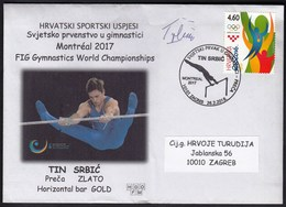 Croatia Zagreb 2018 / FIG Gymnastics WC Montreal 2017 / Horizontal Bar - Gold Medal Tin Srbic - Signature - Gymnastik