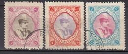 IRAN 1931 - MiNr: 614 - 624   Lot 3x Used - Iran