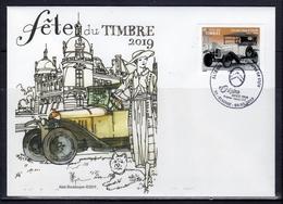 """2019-FDC à 0.88 € """" FETE DU TIMBRE-Citroen Type A 10HP """"  OBLITERE 1er Jour 09.03.2019 - FDC"""