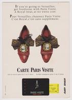 CARTE PARIS VISITE - Pour Versailles Chaussez ... Royal - RATP SNCF - Chaussures - Transport Urbain En Surface