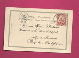 Carte Postale De 1901 Pour La Belgique - Maury N° 22 - Colony: Cameroun