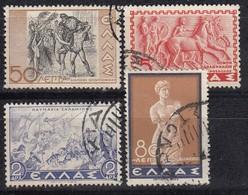 GRIECHENLAND 1937 -  MiNr: 399-402 - 4 Werte  Used - Griechenland