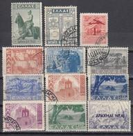 GRIECHENLAND 1938-1944 - Partie 12 Werte  Used - Griechenland