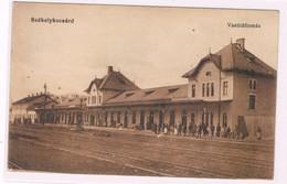 Ungheria Postcard Budapest Szekelykocsard Station Raylways  Stazione  1910 - Hongarije