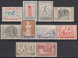 GRIECHENLAND 1937 - MiNr: 395-407 - 10 Werte Feinst ** / MNH - Griechenland
