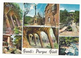 Spain Barcelona Guell Park Multiview Vintage Antoni Gaudi Postcard 4X6 - Barcelona