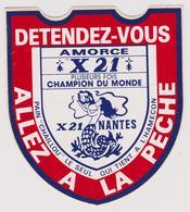 Sticker - ALLEZ A LA PECHE - AMORCE X 21 - Stickers