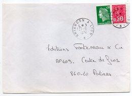 """1974--Lettre Pour Poitiers-86--cachet Rond Ambulant """"Briançon à Lyon """"--timbres - Marcophilie (Lettres)"""