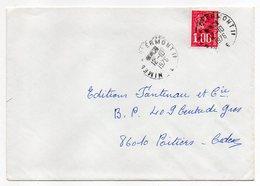 """1976--Lettre Pour Poitiers-86--cachet Rond Ambulant """"Nîmes  à Clermont 1""""--type Marianne Béquet - Marcophilie (Lettres)"""