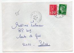 """1974--Lettre Pour Poitiers-86--cachet Rond Ambulant """" Irun  à  Bordeaux 1° """"--type Marianne Béquet+Cheffer - Marcophilie (Lettres)"""