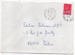"""1974--Lettre Pour Poitiers-86--cachet Rond Ambulant """" Brioude  à  Clermont Fd--*  """"--type Marianne Béquet - Marcophilie (Lettres)"""