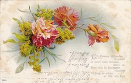 AK Nelken - Mit Deinem Blühenden Gewinde... - Gedicht - 1900 (40023) - Fleurs