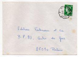 """1973---Lettre Pour Poitiers-86- Beau Cachet  Ambulant """" Dunkerque  à Lille """"-  Type Marianne Cheffer - Marcophilie (Lettres)"""