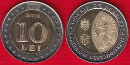 "Moldova 10 Lei 2018 ""25 Years Of National Currency"" BiMetallic UNC - Moldavie"